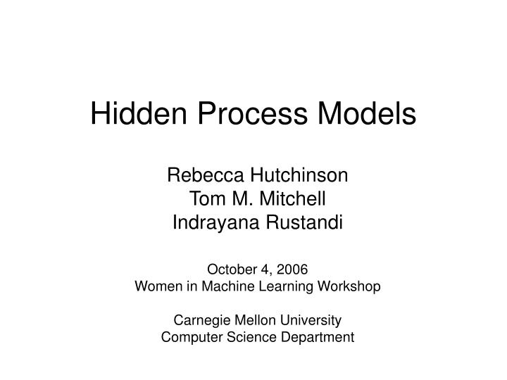 hidden process models n.