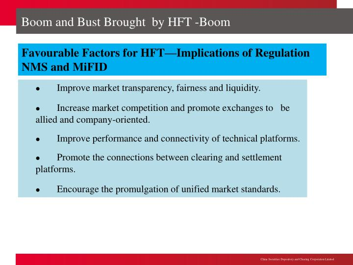 Boom and Bust Brought  by HFT -Boom
