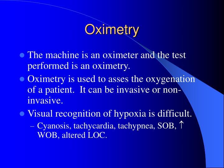 Oximetry