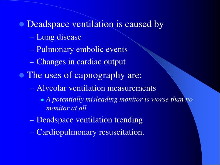 Deadspace ventilation is caused by