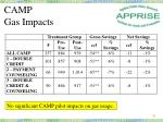 camp gas impacts