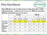 pilot enrollment