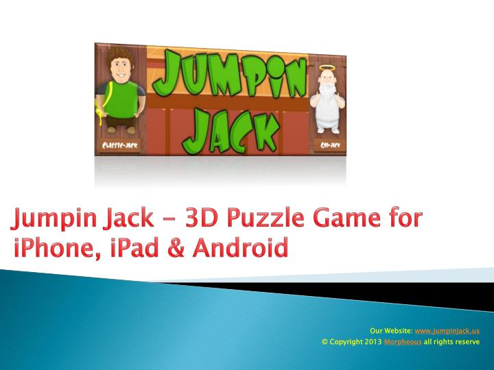 jumpin jack 3d puzzle game for iphone ipad android n.