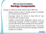 hmf loan terms conditions savings components