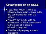 advantages of an osce