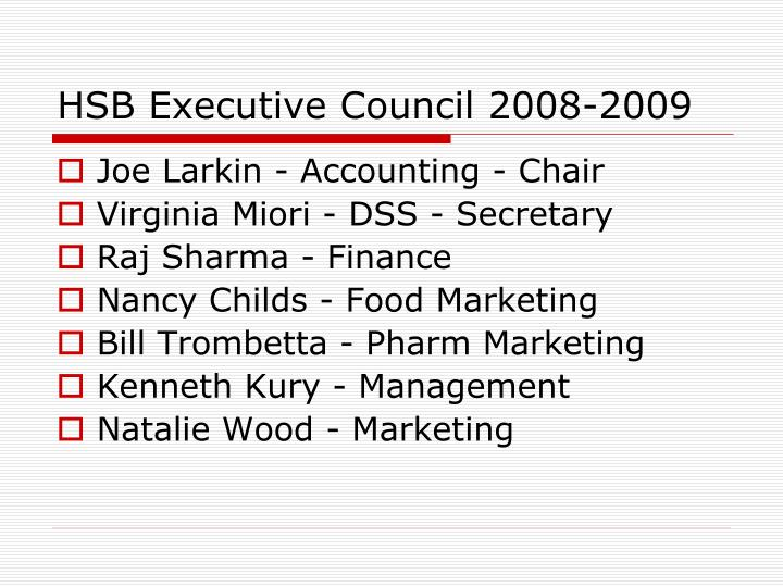 Hsb executive council 2008 2009