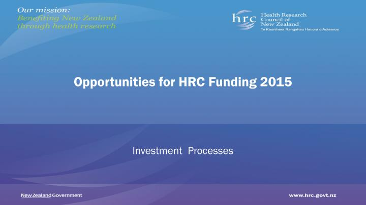 opportunities for hrc funding 2015 n.