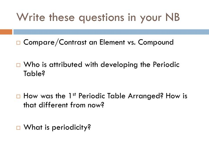 write these questions in your nb n.