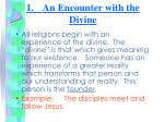 1 an encounter with the divine