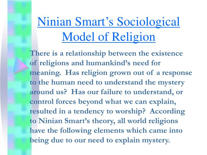 ninian smart s sociological model of religion n.