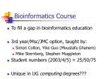 bioinformatics course