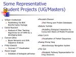 some representative student projects ug masters