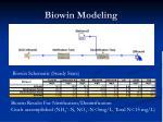 biowin modeling