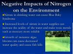 negative impacts of nitrogen on the environment