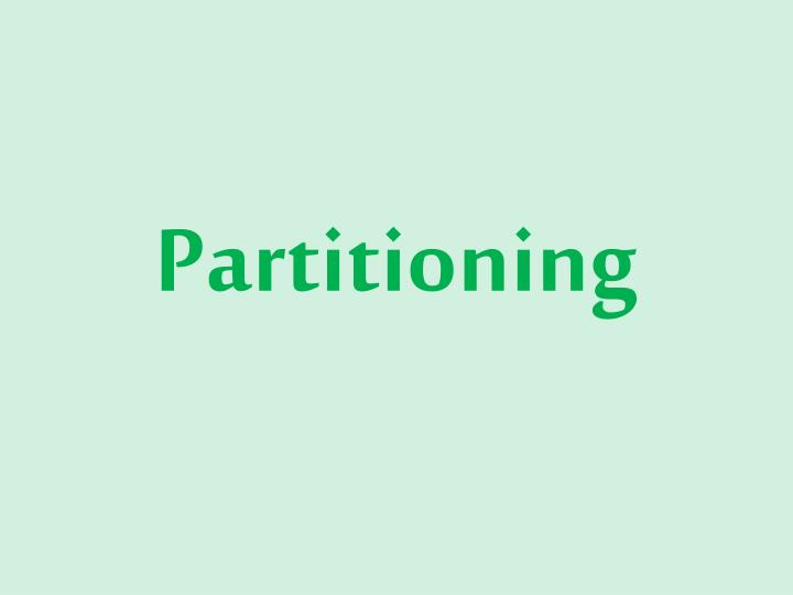 partitioning n.