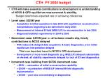 cth fy 2004 budget