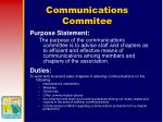 communications commitee