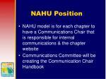 nahu position