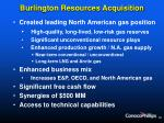 burlington resources acquisition