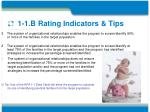 1 1 b rating indicators tips