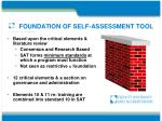 foundation of self assessment tool