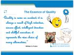 the essence of quality