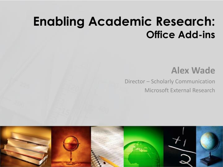 enabling academic research office add ins n.