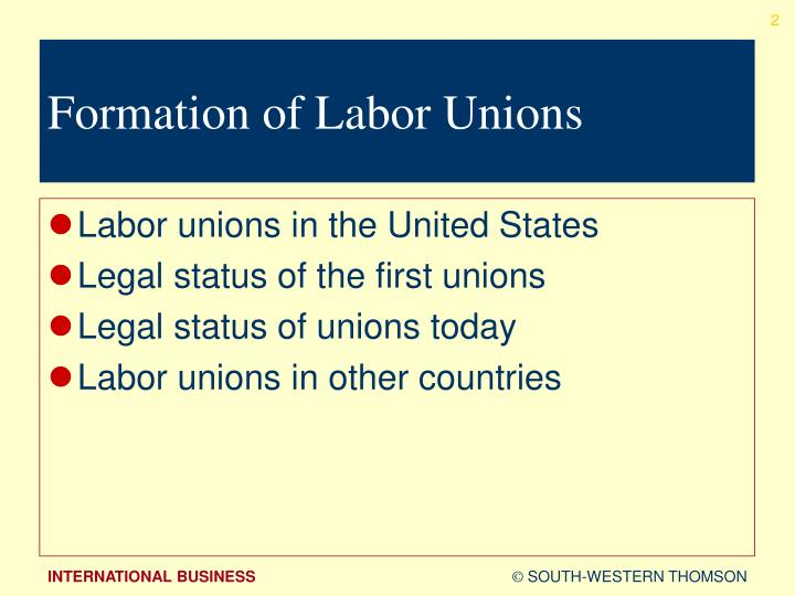 contrast labor unions in the united states and other countries Labor unions in the united states are representatives of workers in  party emerged in the united states, in contrast to  of other local labor unions.