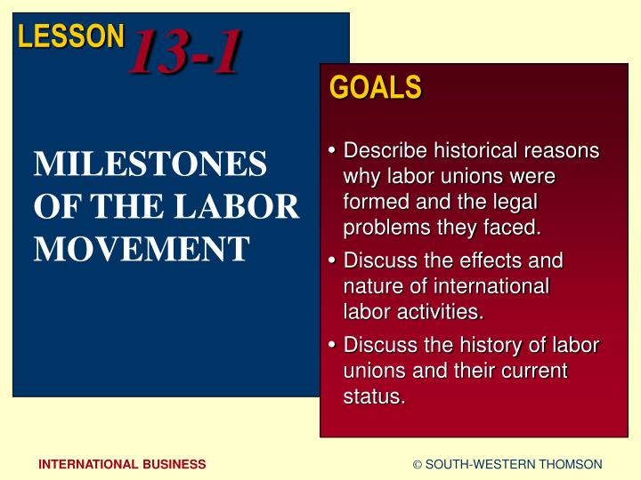 history of formations of labor unions The united nations emerged after world war ii as an international peacekeeping organization.