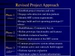 revised project approach