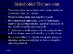 stakeholder themes cont