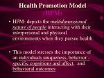 health promotion model hpm