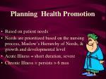 planning health promotion