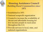 housing assistance council building rural communities since 1971