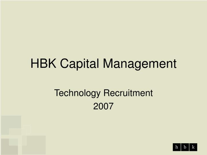 hbk capital management n.