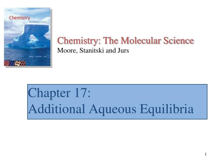 chapter 17 additional aqueous equilibria n.