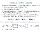 example buffer capacity