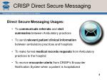 crisp direct secure messaging