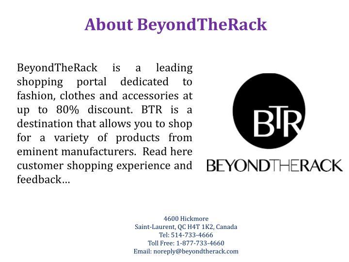 About BeyondTheRack