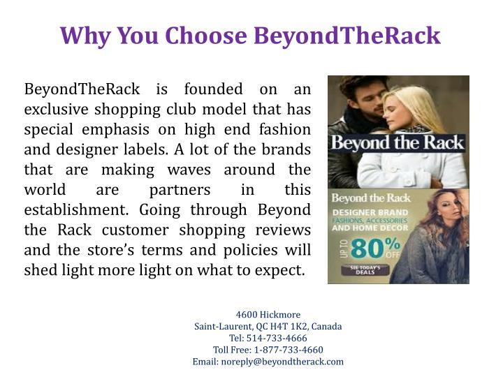 Why You Choose BeyondTheRack