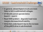 sram subthreshold challenges
