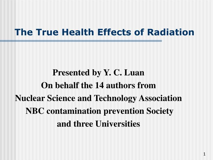 the true health effects of radiation n.