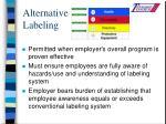 alternative labeling