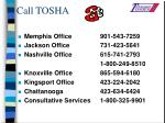 call tosha