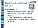 electronic maintenance of msds