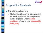 scope of the standards