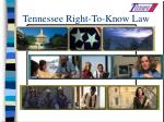 tennessee right to know law