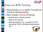 tennessee rtk training