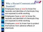 why a hazard communication standard