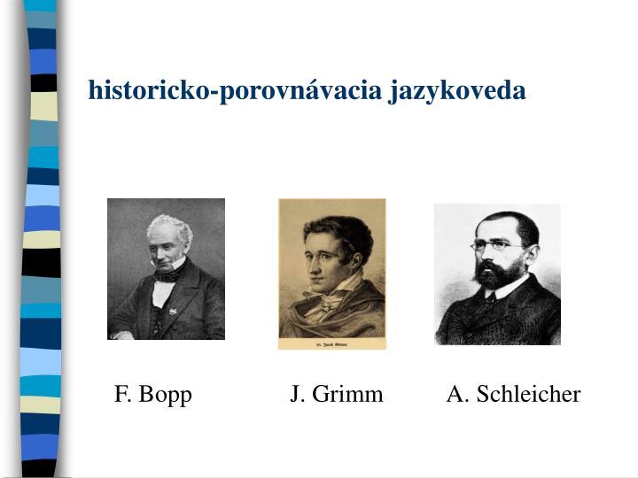 historicko-porovnávacia jazykoveda